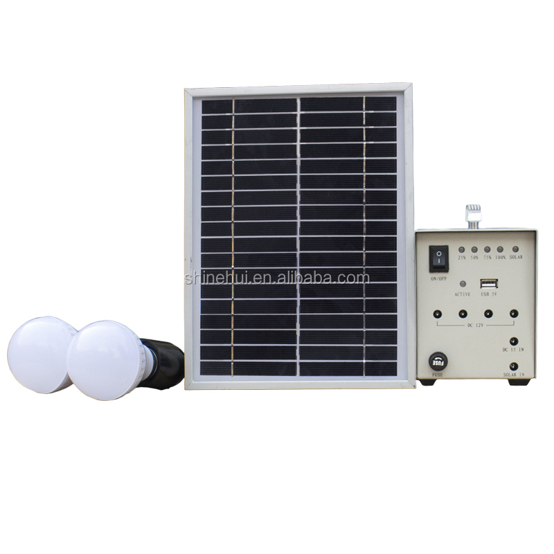 Hot sale discount portable 5 W solar electric generator for home use with12v 4AH battery cell