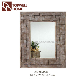 Wholesale Unfinished Hand Carve Wood Mirror Frame - Buy Wood Mirror ...