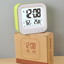 rechargeable battery week number display clock, indoor hygrometer digital table clock
