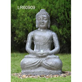 Buddha Wasser Des Gartendekors Kennzeichnet Im Freien Brunnenstatue Mit Licht