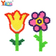 wholesale imported toys diy flower pattern 5mm ironing perler bead pegboard for sale ,diy bead set