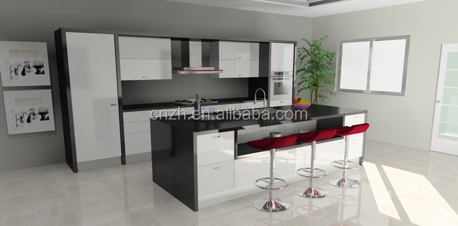 australia standard modular kitchen design with long island breakfast Breakfast Table Design