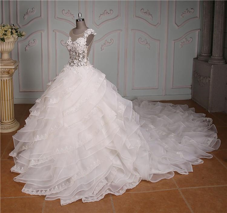 2015 Sexy Durchsichtig Organza Türkische Brautkleider - Buy ...