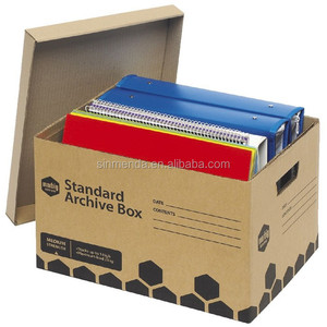 Custom size archive storage corrugated files document packaging carton box