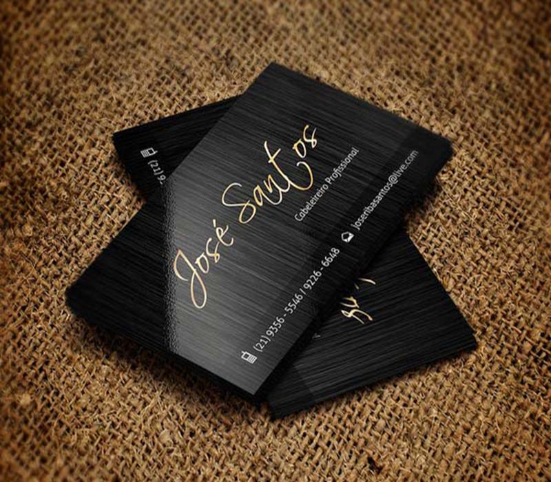 personal design black art paper custom business cards