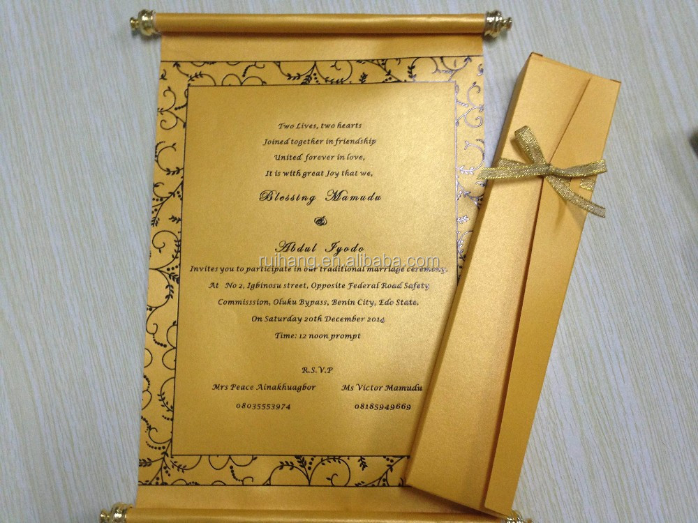 scroll wedding invitation card with metal buy roll wedding invitation cardbox scroll wedding invitation cards with gold tasseroyal wedding invitation