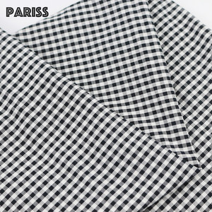 fast delivery 1 yard gingham cotton black white check fabric