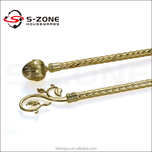 Fashionable Copper Curtain Rod For Adjustable Metal Rod