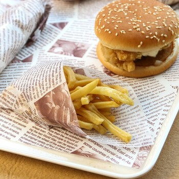 Mini Ordine Hamburger Oleata Carta Da Imballaggio di Carta del Rilievo di Carta Da Forno