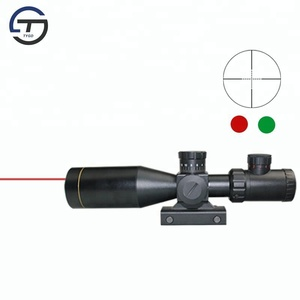 Tactical 3-9x40 Waterproof Rifle Scope for Hunting with red laser