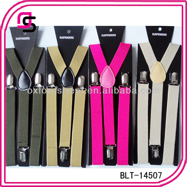 Alibaba Wholesale Cheap Price Holiday Suspenders Plain Colour Braces