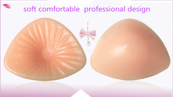 silicone breast forms for mastectomy woman fake breast making body balance not allergic xinxinmei triangleshape 150g/piece