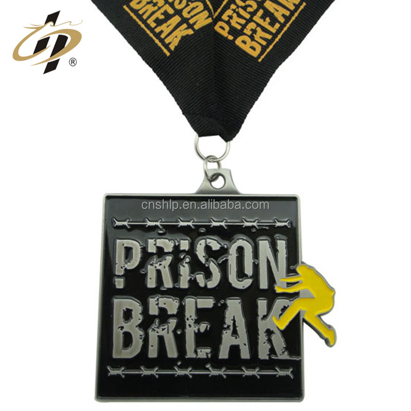Wholesale custom black parkour skateboarding cool sports metal medal
