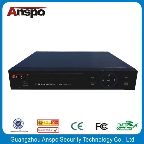 Anspo 2016 Promoted H.265 Embedded 4ch 4K NVR with HDMI / VGA / Onvif / Linux / USB