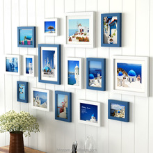 15 stks Home Decor Chocolade Wit Muur <span class=keywords><strong>Fotolijst</strong></span> Set <span class=keywords><strong>Houten</strong></span> Fotolijsten Voor Woonkamer Familie Foto DIY Foto Frames
