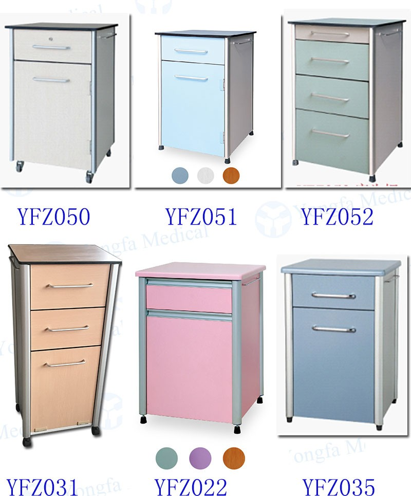 Factory Direct Hospital ABS Bedside Locker With Drawer