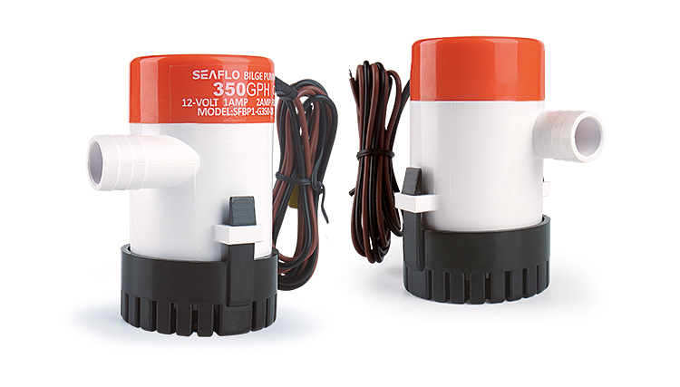 SEAFLO 350GPH 12V DC Entirely Submersible Mini Bilge Pump for Boat