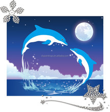 Hot sale kids toys two dolphins diy diamond painting kit