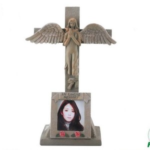Solar light cross and decoration for cemetery , grave