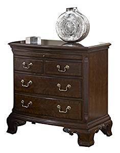 Fine Furniture Design American Cherry Bedroom Set with Queen Bed, Nightstand, Dresser and Mirror