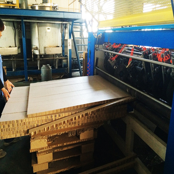 Safe and green environmental Paper honeycomb board slice machine
