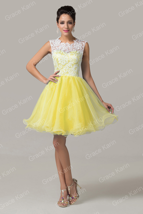 Grace Karin Fashion Girls Sleeveless Short Lace Cocktail Dresses ...