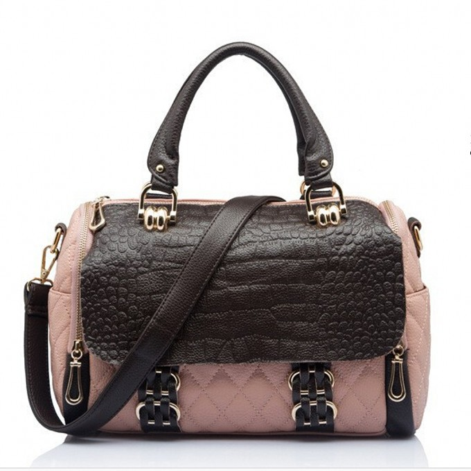 Fashion 2015 women luxury crocodile panelled famous brand genuine leather handbags female shouder bags borsa donna taschen 45