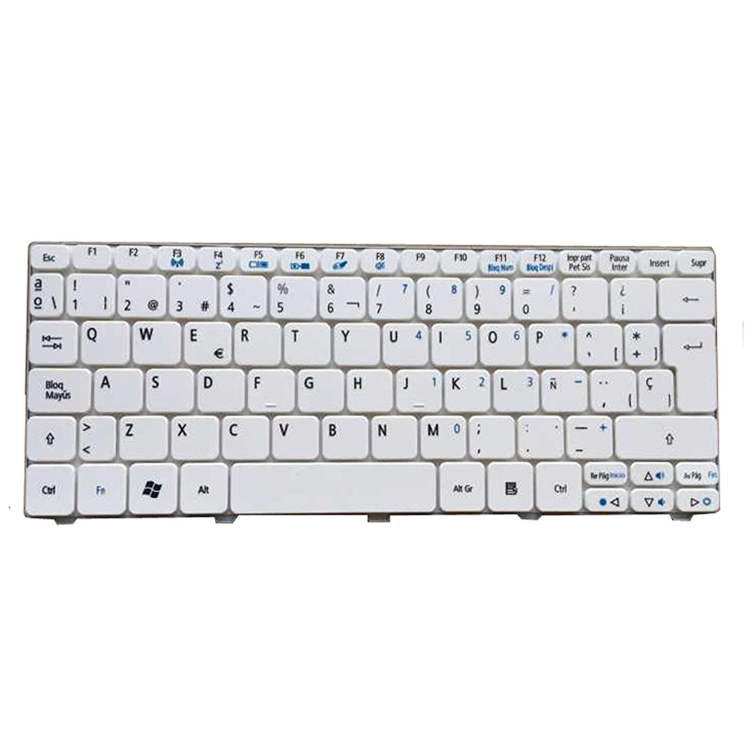 Cheap Acer 532h Keyboard Find Deals On Line At Laptop 4736 4738 4740 Get Quotations Yeechun White Spanish Sp Qwerty Teclado For One 521 D255 D260 533 532