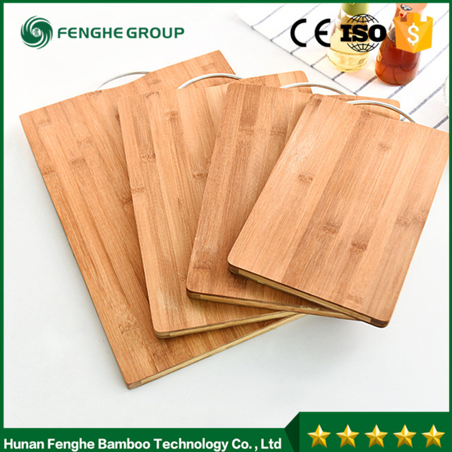 No Paint Japan Style Bamboo Cutting Board with Handle Natural Wood Salad/Fruits Groove Chopping Block Bread Board Baking Tool
