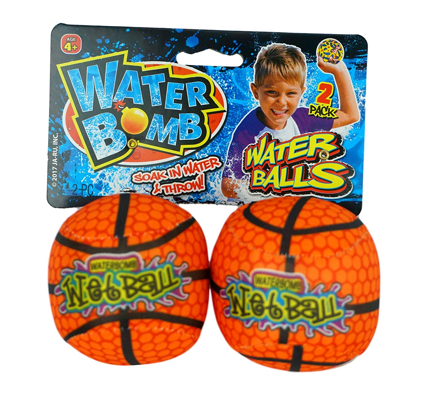 Water Spash Ball (Pair) By JA-RU. Soak and Throw the Bomb. Like water Balloons but Better. | 149 (Pack of 1 Pair)