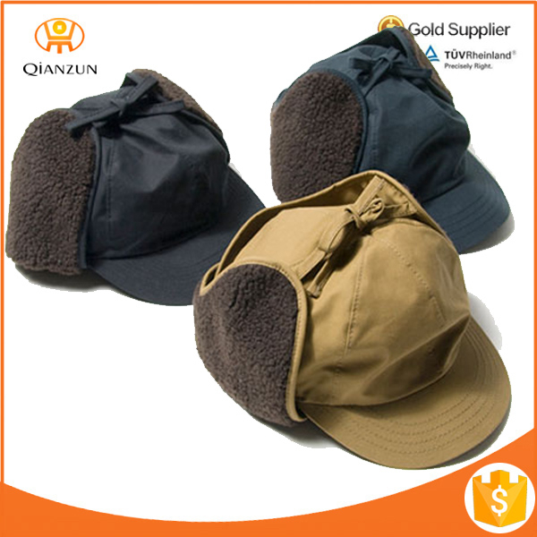 baseball cap with ear flaps for sun protection wholesale customized winter hats caps nike leather