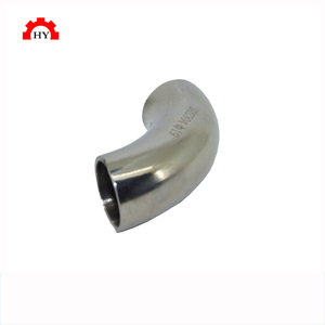 New type 4 inch stainless steel 90 degree sanitary welding elbow
