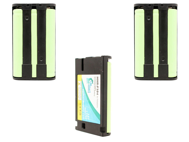 3x Pack - Panasonic KX-TG5571 Battery - Replacement for Panasonic Cordless Phone Battery (800mAh, 3.6V, NI-MH)