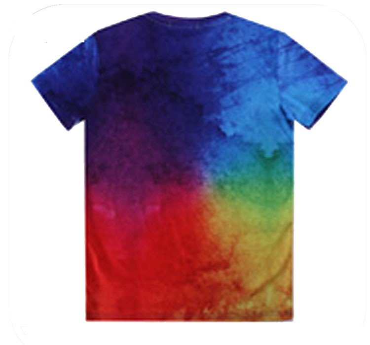 Popular and the newest elastane fashion custom gradient t-shirt wholesale