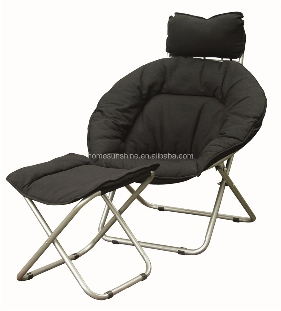 Metal Sling Folding Chair With Cushion Seat And Foot Step   Buy Metal  Folding Chairs With Padded Seats,Cheap Metal Folding Chairs,Folding Chairs  With ...