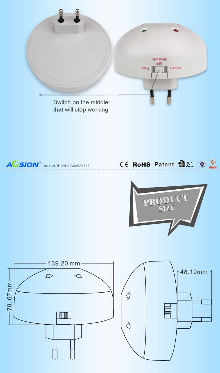 Aosion Brand Ultrasonic Wave Anti Insect Rat Pest Reject Mouse Is The Circuit Diagram Of An Mosquito Repellerthe Killer Magnetic Repeller A320