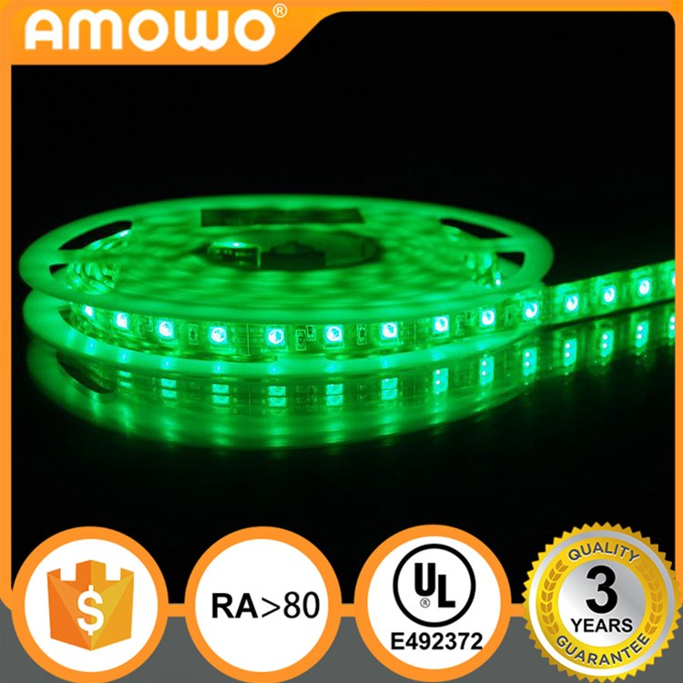 DC12/24V Ra80 60leds 14.4w 5050 pixe battery powered waterproof led strip light at UL Listed