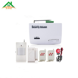 6 wireless zones 4 wired zones very cheaper wireless GSM home security alarm system for home