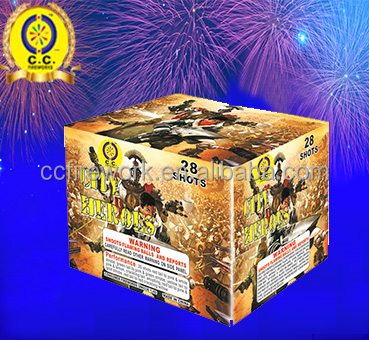 professional customized size fireworks cake with high quality