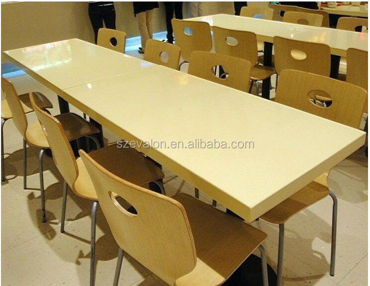 Artificial Marble Top Seater Dining Table Stainless Steel Dining - Table and chair design for restaurant