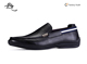 Black leather men no lace sperry casual deck shoes