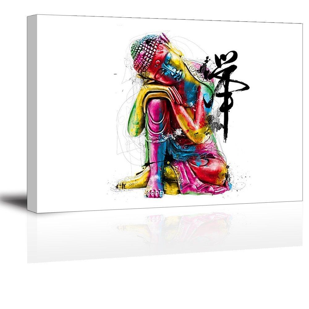 Artisweet Canvas Prints Picture Sensations Framed Waterproof 1-panel Buddha Canvas Art
