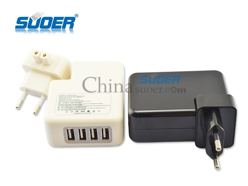 Suoer High Quality USB Travel Charger Portable Travel Adapter Plug