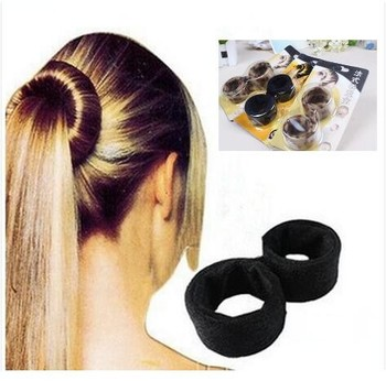 European Bud Head Hairdressing Tools French Curls Magic Hair Bun ...