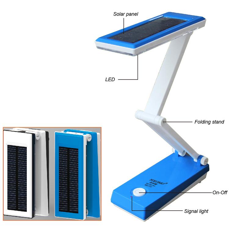 Environmental Design Foldable Led Solar Desk Lamp Table