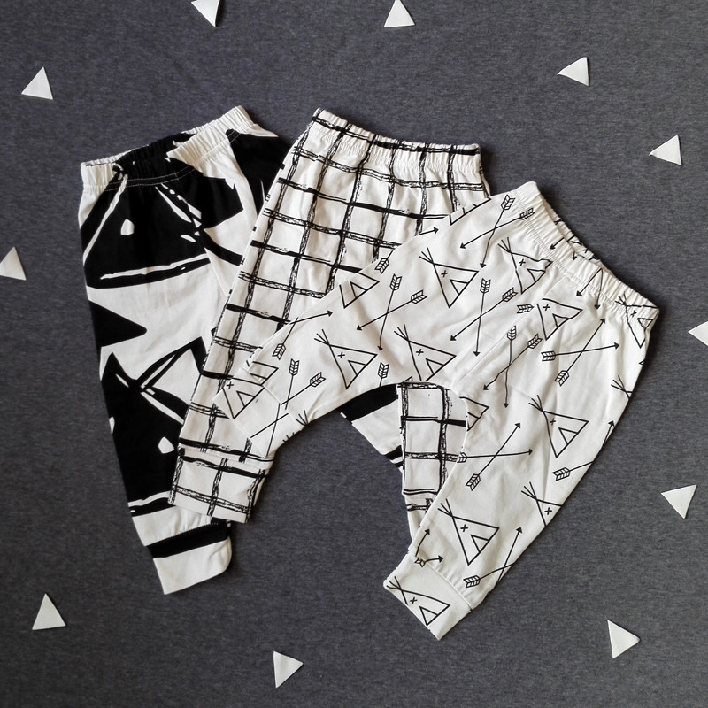 2016 Fashion Kids Boys Girls Clothes Mini Rodini Cotton Baby Clothing Infant Baby Leggins Newborn Baby