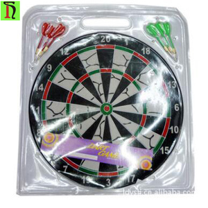 6T3017 own factory sisal material dartboard High quality 17 inch custom logo dartboard Personal/welfare/promotional gift dart