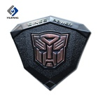 Custom chrome 3d logo sticker transformers emblem abs car logo badge