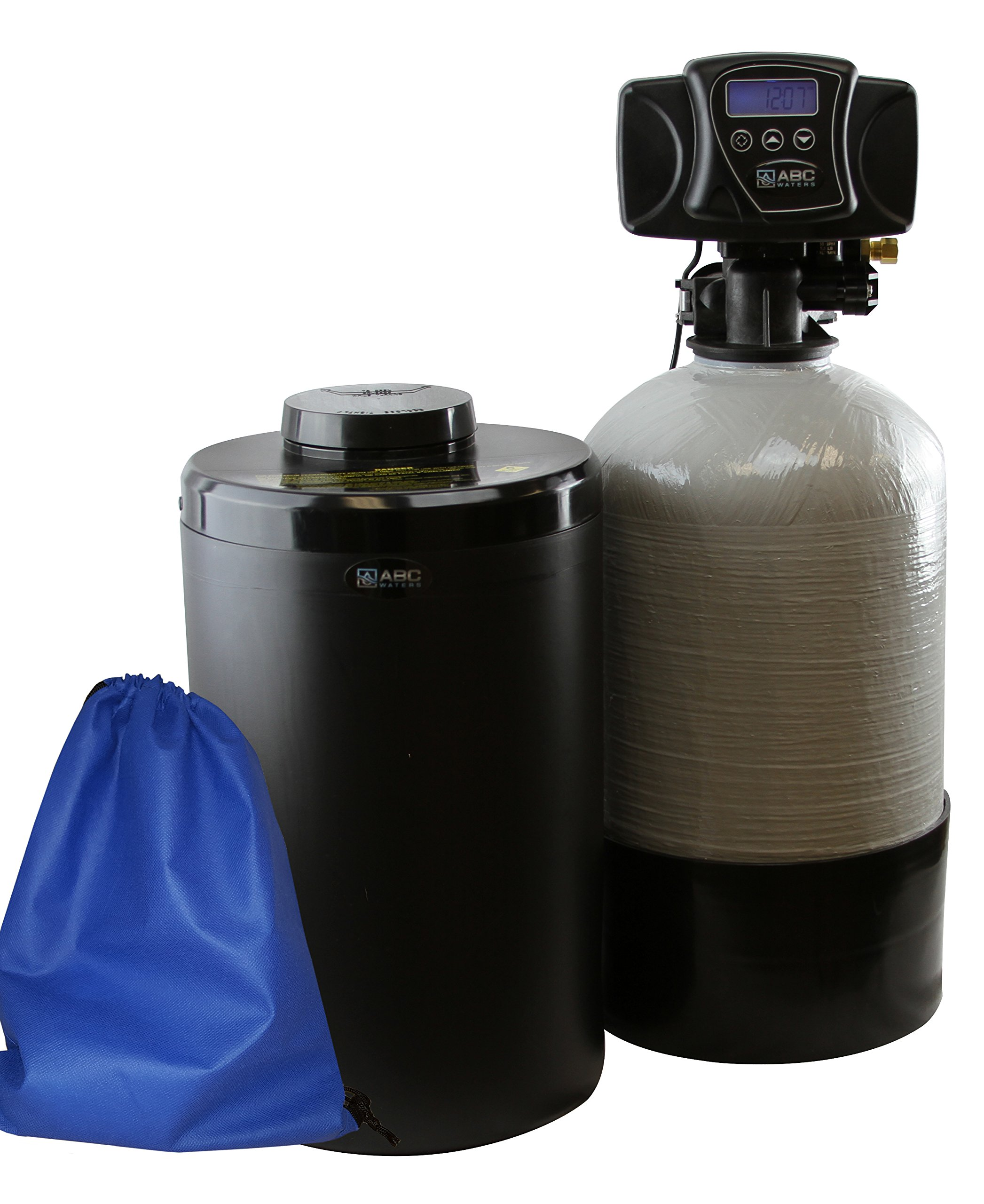 ABCwaters built Compact Fleck 5600sxt 16k TC Water Softener System - Perfect for RVs, Mobile Homes, Tiny Homes, Condo & Cabins - Program & It Runs Automatically!