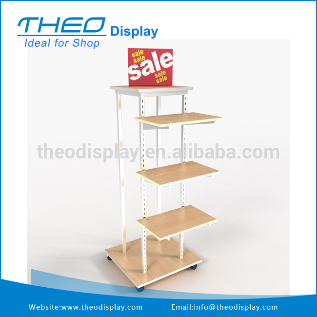 Best Price Adjustable Wooden Square Retail Stor Display Fixture